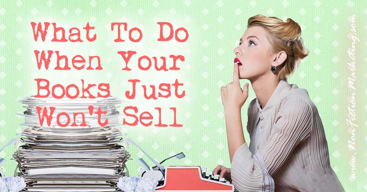 What To Do When Your Books Just Won't Sell... I'm an author. I haven't published my own book, yet, but I have been published in a compilation book and online. Since I haven't tried to get my own book sold, I wanted to know what I had in store when I finally do get that work finished and want to sell it. What I found out was to look at things not as an author, but as a reader.